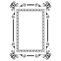 KaiserCraft Embossing Folder 4x6 Guilded Frame FREE SHIPPING