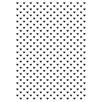 Kaisercraft Embossing Folder 10.6cm x 15cm Tiny Hearts EF243 FREE SHIPPING