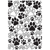 Kaisercraft Embossing Folder 19.5cm x 10.5cm Paw Prints EF260 FREE SHIPPING
