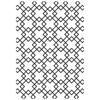 Kaisercraft Embossing Folder 10.5cm x 19.5cm Diamond Tiles EF265
