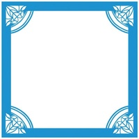 Crafter's Companion Die'sire Embossalicious 8x8 Embossing Folder Art Deco Frame