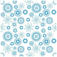 Crafter's Companion Die'sire Embossalicious 8x8  Embossing Folder - Flower Power FREE SHIPPING