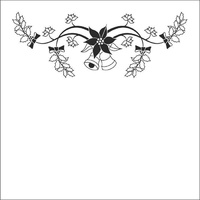 Nellie Snellen Embossing Folder Christmas Bells 13cm x 13cm