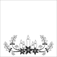 Nellie Snellen Embossing Folder Christmas Candles 13cm x 13cm