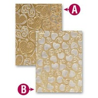 Spellbinders M-Bossabilities Embossing Folders Hearts EL-012