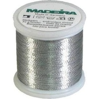 Madeira Metallic Machine Embroidery Thread No. 40 Silver 200m