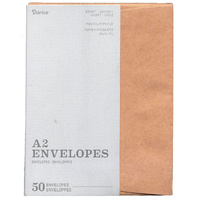 50 Kraft Envelopes A2 11.11cm x 14.6cm