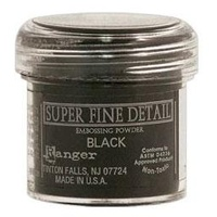 Ranger Super Fine Detail Embossing Powder 1 Ounce BLACK