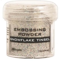 Ranger Embossing Powder 1 Ounce SNOWFLAKE TINSEL