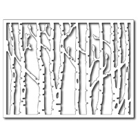 Frantic Stamper Precision Die  Horizontal Birch Trees Panel FRADIE09225