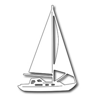 Frantic Stamper Precision Die - Sail Boat FRA-DIE-09514 FREE SHIPPING