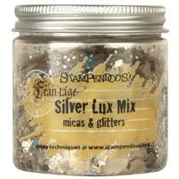 Stampendous Micas & Glitters Lux Mix 1.27oz Silver