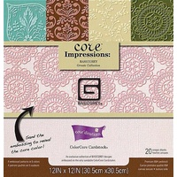 Core'dinations Core Impressions Basic Grey Ornate Cardstock Pad 12X12 20 sheets