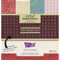 Core'dinations Core Impressions My Mind's Eye Lost & Found Cardstock Pad 12X12 20 sheets