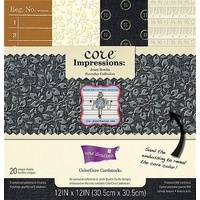 Core'dinations Core Impressions Jenni Bowlin Everyday Cardstock Pad 12X12 20 sheets