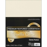 Core'dinations Value Pack Cardstock 8.5x11 40 Sheets Vanilla Cream Textured