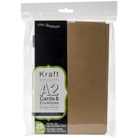 25 Kraft Cards and Envelopes A2 (4.375 X 5.75)