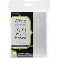 25 White Envelopes A2 (4.375 X 5.75)