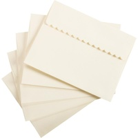 20 Ivory Decorative Flap Envelopes A2 11.11cm x 14.6cm