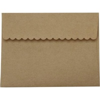 20 Kraft Decorative Flap Envelopes A2 11.11cm x 14.6cm