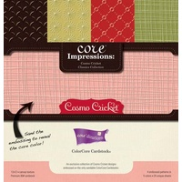 Cosmo Cricket Classics Collection 12x12 Embossed ColorCore Cardstock by Core'dinations 20 sheets
