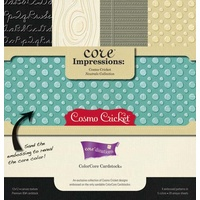 Core Impressions Cosmo Cricket Neutrals Collection 12x12 Embossed ColorCore Cardstock by core'dinations 20 sheets