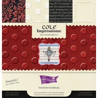 Core Impressions Jenni Bowlin Collection 12x12 Embossed ColorCore Cardstock by core'dinations 20 sheets