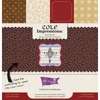 Core Impressions Jenni Bowlin Collection Brown & Cream 12x12 Embossed ColorCore Cardstock by Core'dinations 20 sheets