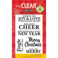 Hero Arts Clear Stamps Love and Joy Christmas