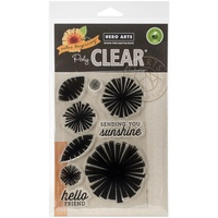 Hero Arts Clear Stamps Color Layering Graphic Flowers