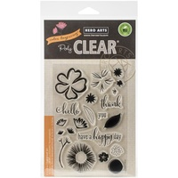 Hero Arts Clear Stamps Color Layering Happy Day Flowers