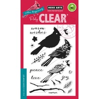 Hero Arts Clear Stamps Color Layering Cardinals