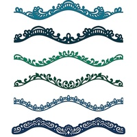 Heartfelt Creations Cut & Emboss Die  Delicate Border Basics FREE SHIPPING
