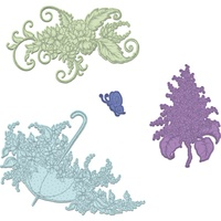Heartfelt Creations Cut & Emboss Die Lush Lilac & Umbrella Spray