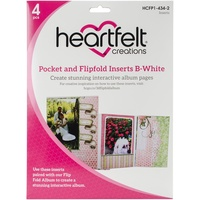 Heartfelt Creations Pocket and Flipfold Inserts B White