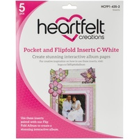 Heartfelt Creations Pocket and Flipfold Inserts C White