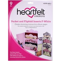 Heartfelt Creations Pocket and Flipfold Inserts F White