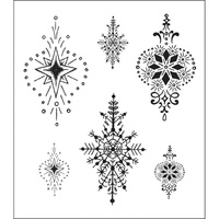 Heartfelt Creations Cling Stamps Ornamental Medallion FREE SHIPPING