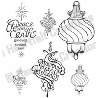 Heartfelt Creations Cling Stamps Fancy Ornament FREE SHIPPING