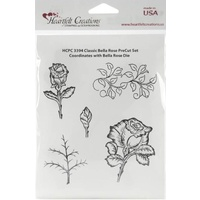 Heartfelt Creations Cling Stamps Classic Bella Rose