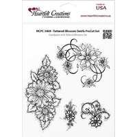 Heartfelt Creations Cling Stamps Tattered Blossom Swirls FREE SHIPPING