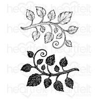 Heartfelt Creations Cling Stamps Classic Leaf FREE SHIPPING