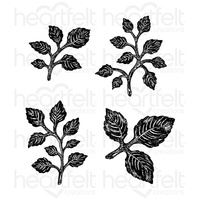 Heartfelt Creations Cling Stamps Bold Leaf FREE SHIPPING