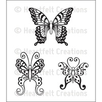 Heartfelt Creations Cling Stamps Botanical Wings