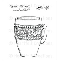 Heartfelt Creations Cling Stamps Coffee Mug FREE SHIPPING