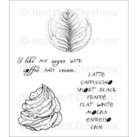 Heartfelt Creations Cling Stamps Latte Art FREE SHIPPING