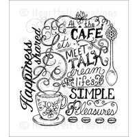 Heartfelt Creations Cling Stamps Coffee Talk Background FREE SHIPPING