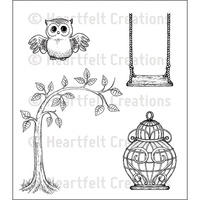Heartfelt Creations Cling Stamps Sugar Hollow Hangout FREE SHIPPING