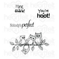 Heartfelt Creations Cling Stamps You're a Hoot FREE SHIPPING
