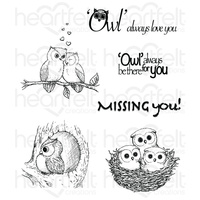 Heartfelt Creations Cling Stamps Sugar Hollow FREE SHIPPING